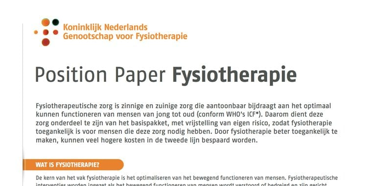position-paper-fysiotherapie